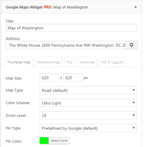 Google Maps Widget 3