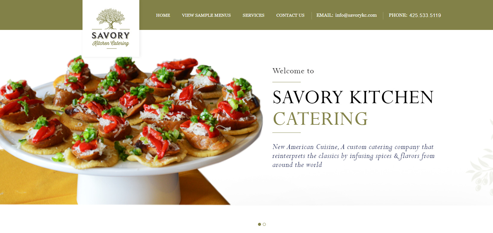 Wordpress Theme Front End Development Savory Kitchen Wp Doin