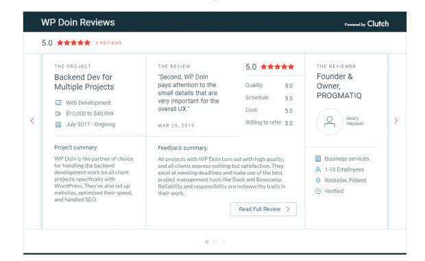 WP Doin Clutch Reviews